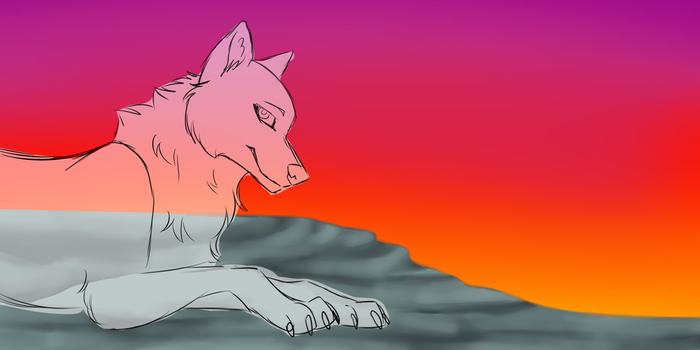 At sunrise  YCH - CLOSED by P4ndora-L