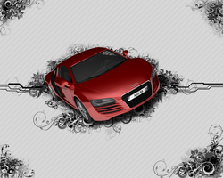 Audi R8 VectorFlower Wallpaper by Vancete
