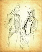 Zevran and Alistair: Time Warp by andarix