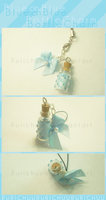 Blue on Blue : Bottle Charm by Rurichuu