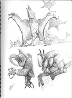 abyssal monsters p.1 by elytracephalid