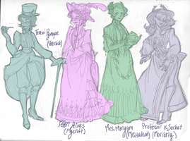 Holmestuck character sketches part 1 by nebula-tea