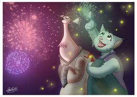 Fireworks And Fireflies by Cryssy-miu