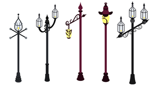 MLPonline Street lamps pack by Stabzor
