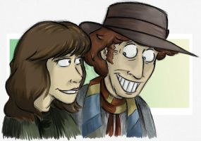 Sarah-Jane and the Doctor by Expression