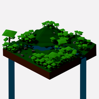 Isometric jungle by Algrien