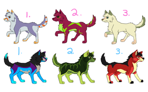 Wolfy Adopts! by Naragirl007