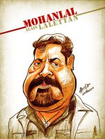 Mohanlal - Caricature by libran005