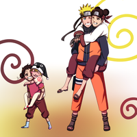Naruto Tenten Siblings by BayneezOne
