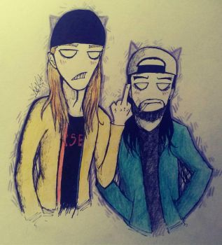 Jay and Silent Bob by W-O-T-A-N