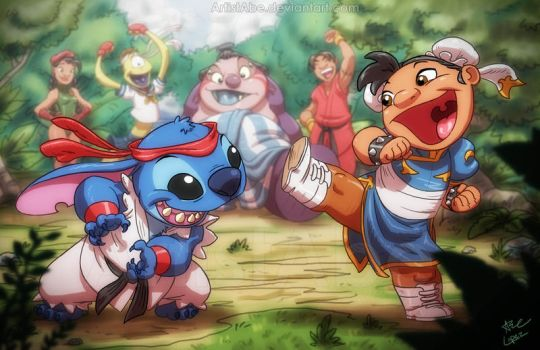 Street Fighter Ohana by ArtistAbe