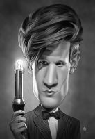 11th Doctor Caricature by Mattspaintings