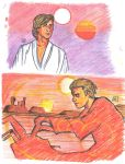 SW colored sketches - Luke and Anakin by KatyTorres
