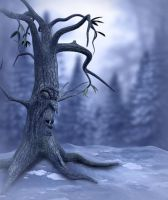 Winter Scary Tree by moonchild-ljilja