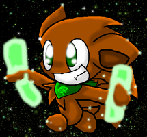 Barky Glowstick Contest Entry by HollyChristmasChao