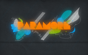 Paramore Wallpaper with glow by iiRoleplayy