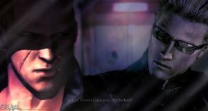[Wesker/Jake] are you my father by NeechanAngel