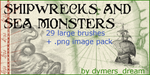 Shipwrecks and Sea Monsters by dymersdream