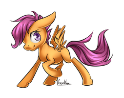 Scootaloo by Moenkin