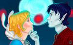 Fionna and Marshall Lee by Misaky