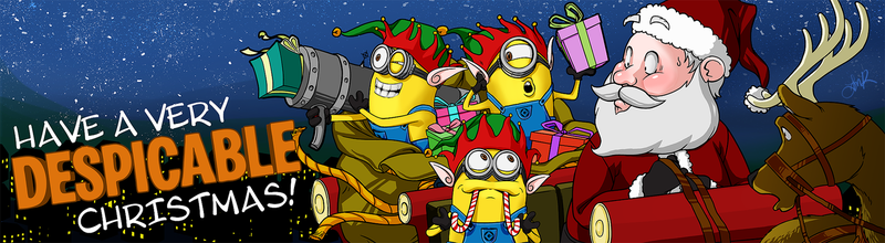 Santa's Despicable Little Helpers by mongrelmarie