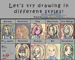 Pixiv style meme: Cliquey by ForeverSoaring
