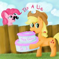 The Cake is a Lie by SnowFlight96