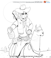 A Gunslinging Outlaw Who Comes From... by EzJedi