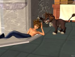 Sora Merman and Lion [XPS] by LexaKiness