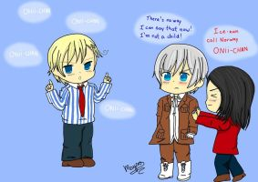 Ice-kun call Norway ONII-CHAN by Mika-chan1102