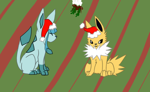 :AT: Eeveelution Christmas by Roi-Chaton-Noir