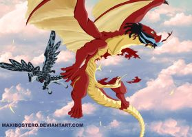 Fairy tail 414 Igneel death by Maxibostero