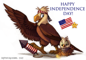 Happy Independence Day by Cryptid-Creations