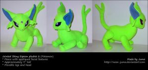 Jointed Shiny Espeon plushie 2 by Neon-Juma