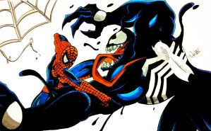 Spiderman Vs Venom 2 by MikeES