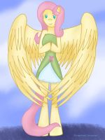 .: Fluttershy - Anthro EQ :. by ASinglePetal
