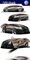 VW shark compact car concept by p-sketch