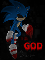 Sonic.exe :COLORED: by InkQueenPilus