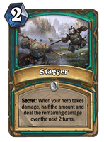 Hearthstone card concept - Stagger by SnowingGnat