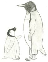 Penguin Sketch by firebutterfly-narya