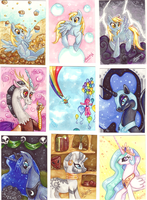 Pony ATCs 1 by Mazzy-elf