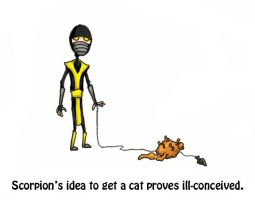 Scorpion gets a Cat by JAKtheTerrible