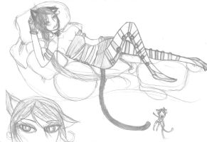 Lounging Kitty by Aeonathenne
