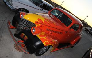 Flaming Hot Rod by joerayphoto