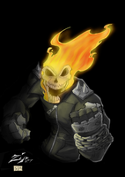 Ghost Rider Commission Color by ShadowMaginis