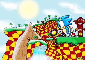 Green Hill Zone by Firefenixss