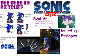 Werehog Sonic Pixel Art by RaeLogan