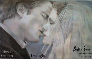 Bella and Edward - Couple Cullen - Drawing by BeatrizLoveMyJesus
