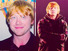 Rupert Grint as Ron Weasley by MissWeasleyJB