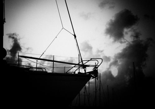 bw boat by Shutter-Buged